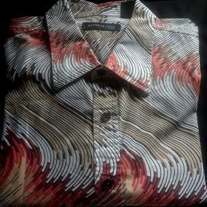 Kenneth Cole Mens Short Sleeve Shirt XL